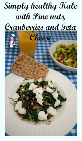 Sauteed Kale – Ginger, Pine Nuts and Cranberries