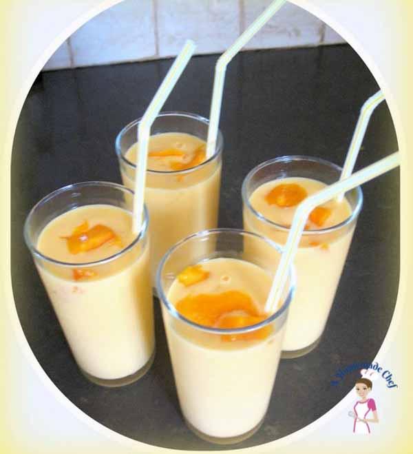 Mango Yogurt Drink, Mango Lassi - Veena Azmanov