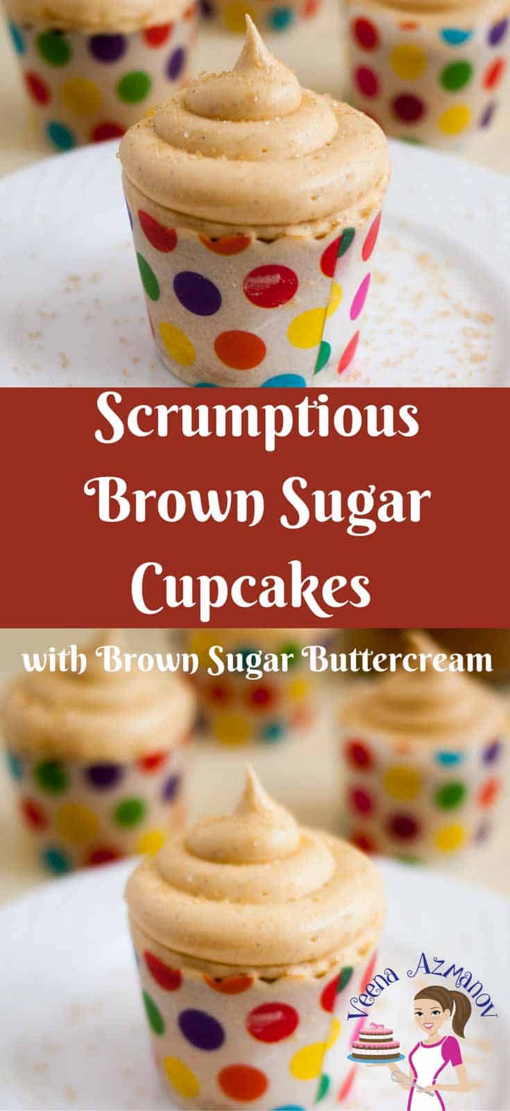 This Brown Sugar Cupcakes recipe takes the basic vanilla cupcake to a unique level. The molasses in the brown sugar add a unique flavor and gorgeous color to the cupcakes and buttercream.