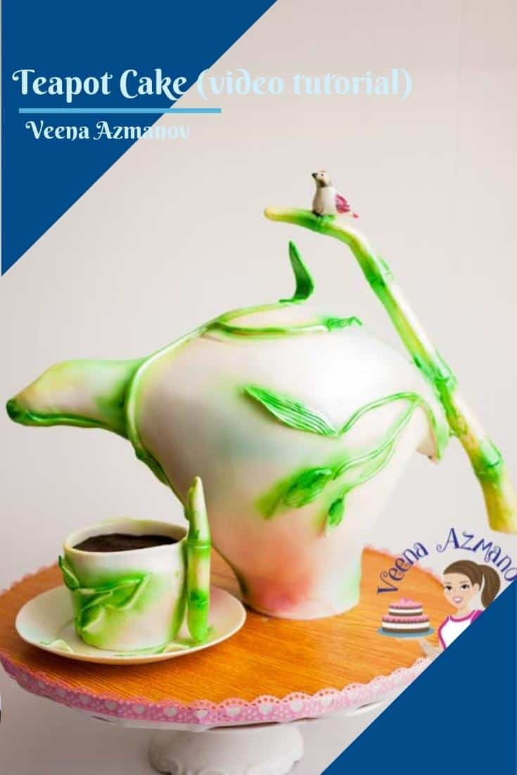 This teapot cake is an absolute show stopper. It would make a fun celebration cake. Perfect birthday cake, anniversary, or Mother day cake. In this video, I show you have I make this cake with a teacup and saucer #teapot #cake #tutorial #teapotcake #teapotcaketutorial #caketutorial #cakedecoratingtutorial  via @Veenaazmanov