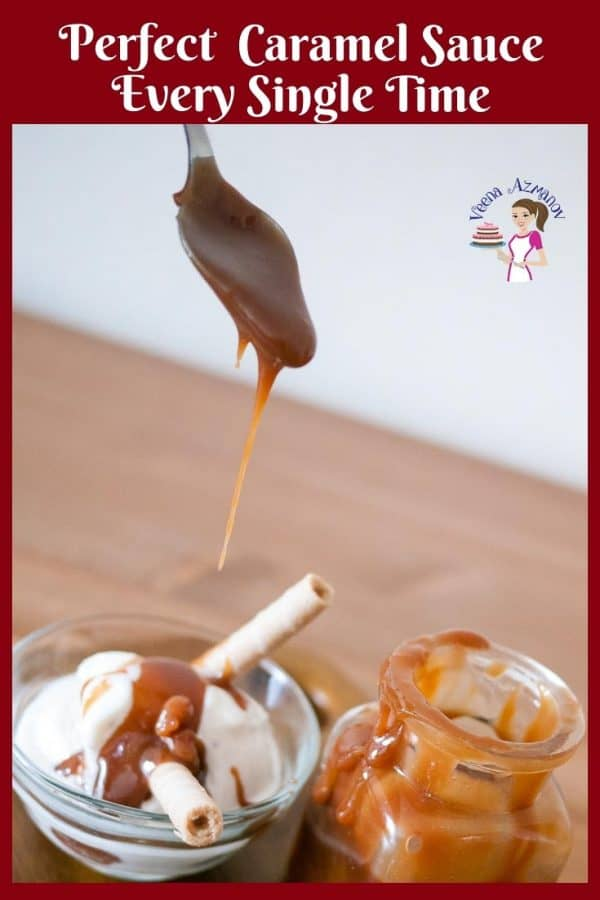 This is a Caramel Sauce made with basic ingredients such as sugar, butter and cream.