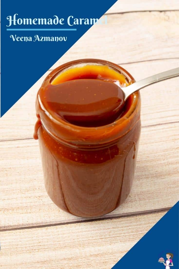 Making homemade caramel sauce uses 4 ingredients you probably already have on hand and takes no more than 10 minutes. This simple and easy recipe will have you drizzling caramel on anything from breakfast pancakes, pound cake, to vanilla ice cream. #caramel #sauce #dessert #quick #homemade #recipe via @Veenaazmanov