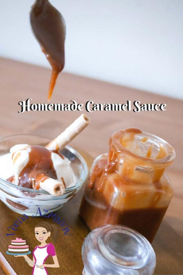 Homemade Caramel Sauce is a quickest treat you can make to add a big wow factor to desserts. It's as simple as pouring some caramel sauce over vanilla ice cream. Making Homemade Caramel Sauce is simple, easy, and effortless than most people think! It takes about 5 minutes to make one cup caramel with just a saucepan and wooden spoon.
