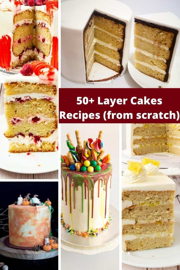 Layer cakes are in trend and perfect to celebrate any event or just serve as a dessert. Here I have 50 plus layer cake recipes for you to try. #layercakes #layercakes #layercakerecipes #bakedfromscratch #baking #cakerecipes #layercakerecipe #bakingcakes via @Veenaazmanov