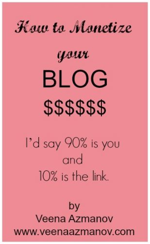 How to monetize a blog - The key to making money is YOU!! I'd say 90% is you and 10% is the link. It's about how you sell these
