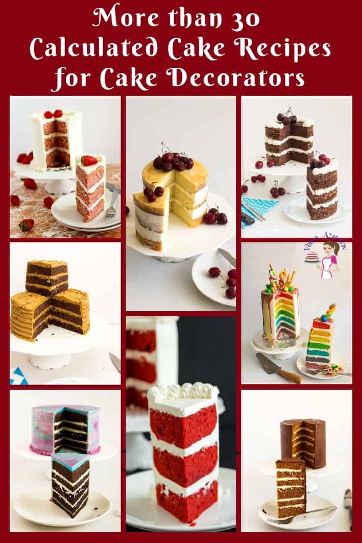 Wondering how to adapt my layer cake recipes to a different size pan?