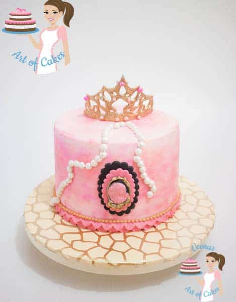 Gum Paste Princess Crown and Cake video tutorial