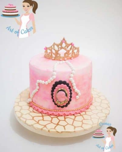 Here I have two videos showing how I made the Gum Paste Princess Crown without any molds and how I decorated the Princess Cake with all the girly details.