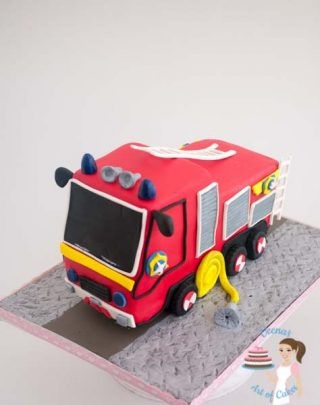 How to make a Fire Truck Cake – Video Tutorial