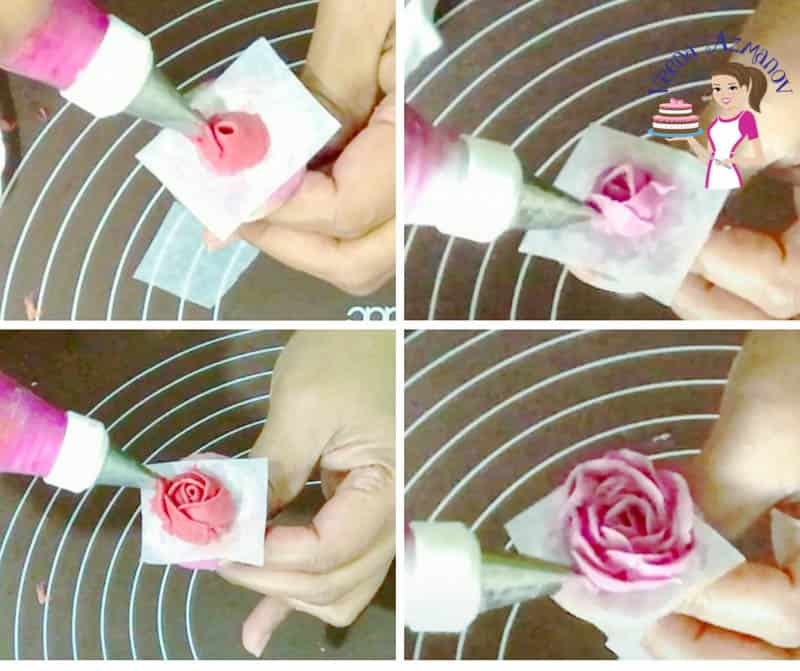 How to pipe buttercream roses for a basketweave buttercream cake