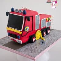 How to make a Fire Truck Cake