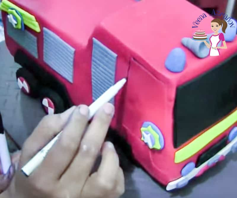 How to make a Fire Truck Cake Tutorial Progress Pictures21