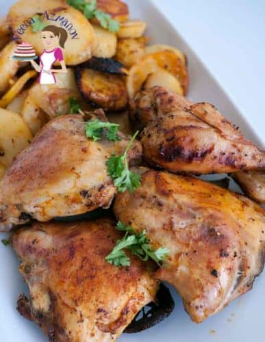 This easy paprika baked one pot chicken meal is a simple hearty lunch or dinner recipe with just five minutes hands on time. The oven does the rest for you.