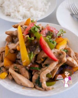 Quick Chicken Stir Fry with Peppers