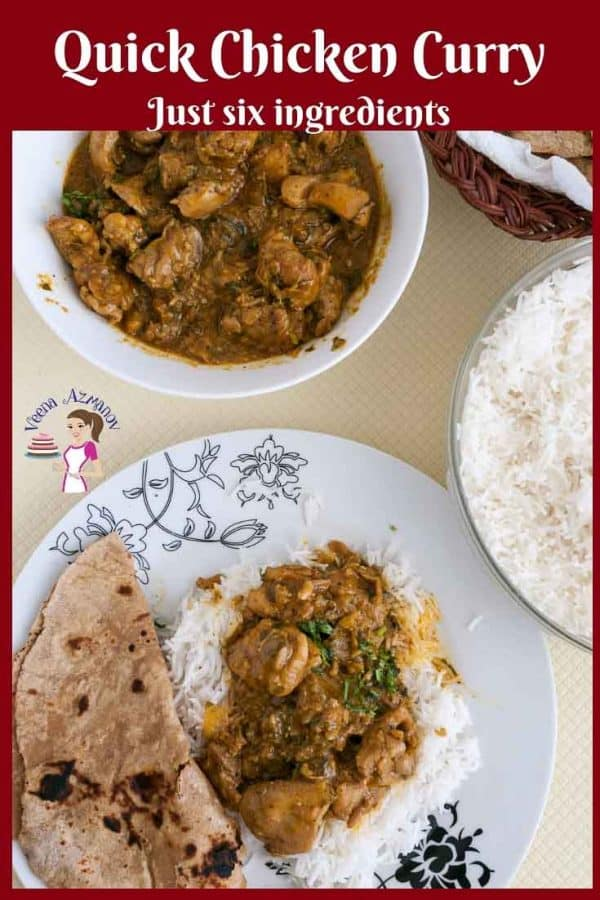 Indian Curry Chicken with just six ingredients and 20 minutes to make.