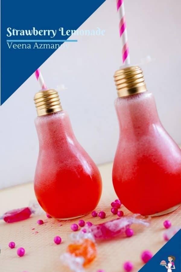 a pinterest image for strawberry lemonade