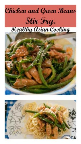 Chicken and Green Beans Stir Fry - Healthy Asian Cooking is a perfect weekday one pot recipe that is simple and easy dinner in 15 minutes
