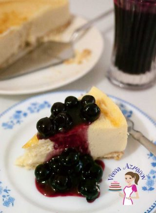 Classic Blueberry Cheesecake with Blueberry Compote