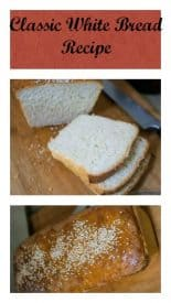 This classic white bread recipe is a simple and easy full proof recipe and will guarantee you a good loaf. Light and airy server with butter jam or a meal.
