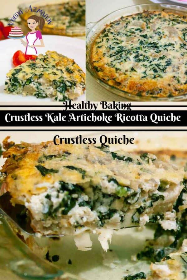 Kale and artichokes quiche thats crutless