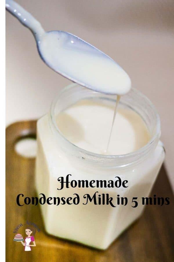 Condensed milk using milk powder in just 5 minutes