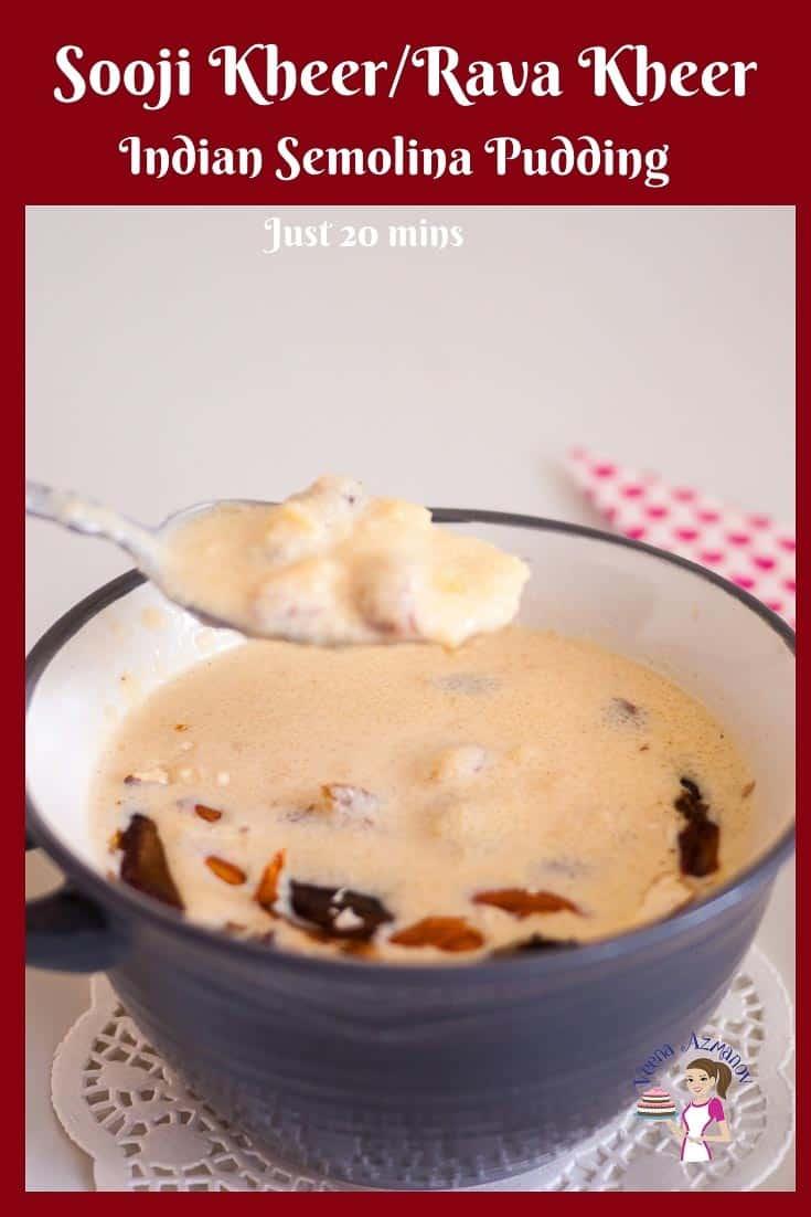 Indian semolina pudding in a bowl.