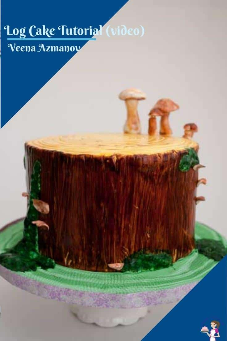 There are many ways to create a tree stump or log cake. In this video, I show you how I hand painted the cake with moss and sugar mushrooms too #logcake #caketutorial #cakedecorating #howtocaketutorial #woodecaketutorial #treestumpcake #woodcake #woodgraincaketutorail  via @Veenaazmanov