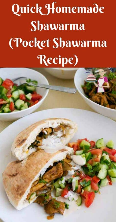 This quick version of the homemade shawarma chicken is a classic middle eastern fast food. Weather you use my homemade spice blend or store bought spice mix this is a simple easy and effortless recipe that gets lunch in 20 minutes or less. Served with caramelized onion, simple salad and nutritious tahini sauce this meal is hearty and healthy.