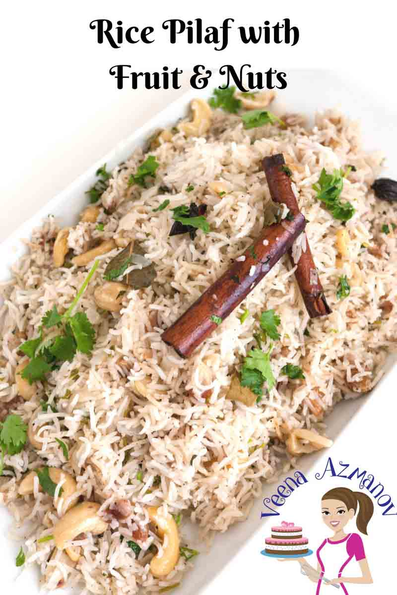 This Rice Pilaf is the perfect dish to dress a dinner table. It's a kids favorite dish where the sweetness of the raisins and the soft smooth cashews almost melt in the mouth.