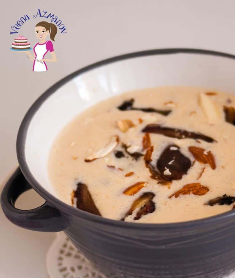 Semolina pudding in a bowl.
