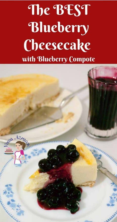 Homemade Cheesecake Recipe, Fresh Blueberries, Cheese Dessert, Baked Cheesecake, Classic Cheese Cake