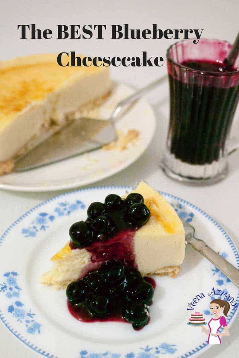 If you were wondering how to make a blueberry cheesecake then this is the best blueberry cheesecake recipe. This simple, easy and effortless recipe has creamy mascarpone cheesecake batter baked to perfection then topped with plump juicy blueberry compote that just melts in the mouth.  Make it with fresh or frozen blueberries any time of the year.