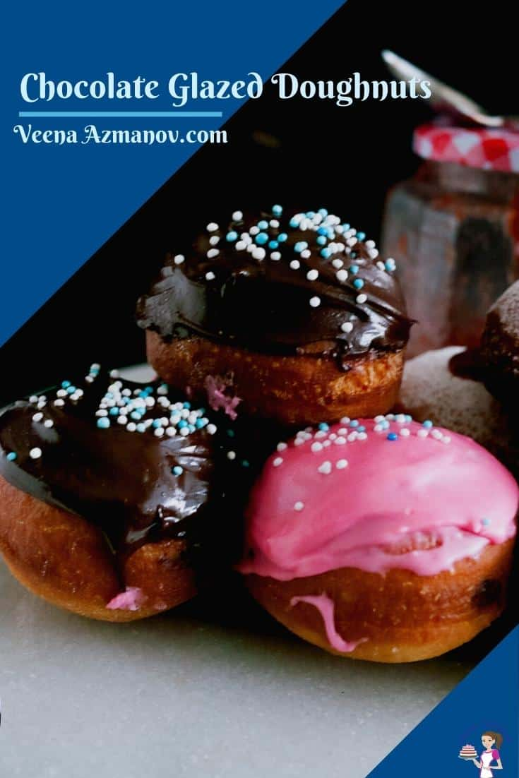 Take your classic sufganiyot to the next level with these deep-fried chocolate doughnuts. Unlike the traditional jam doughnuts, these are glazed with chocolate. With this simple and easy recipe, you will choose to make your own donuts every year #sufganiyot #doughnuts #donuts #chocolatedoughnuts #chocolatedonuts #sufganiyah  via @Veenaazmanov