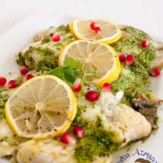 Homemade Cilantro Baked Fish fillet makes a healthy nutritious meal in just 15 minutes. Made with frozen Sea ball or Tilapia