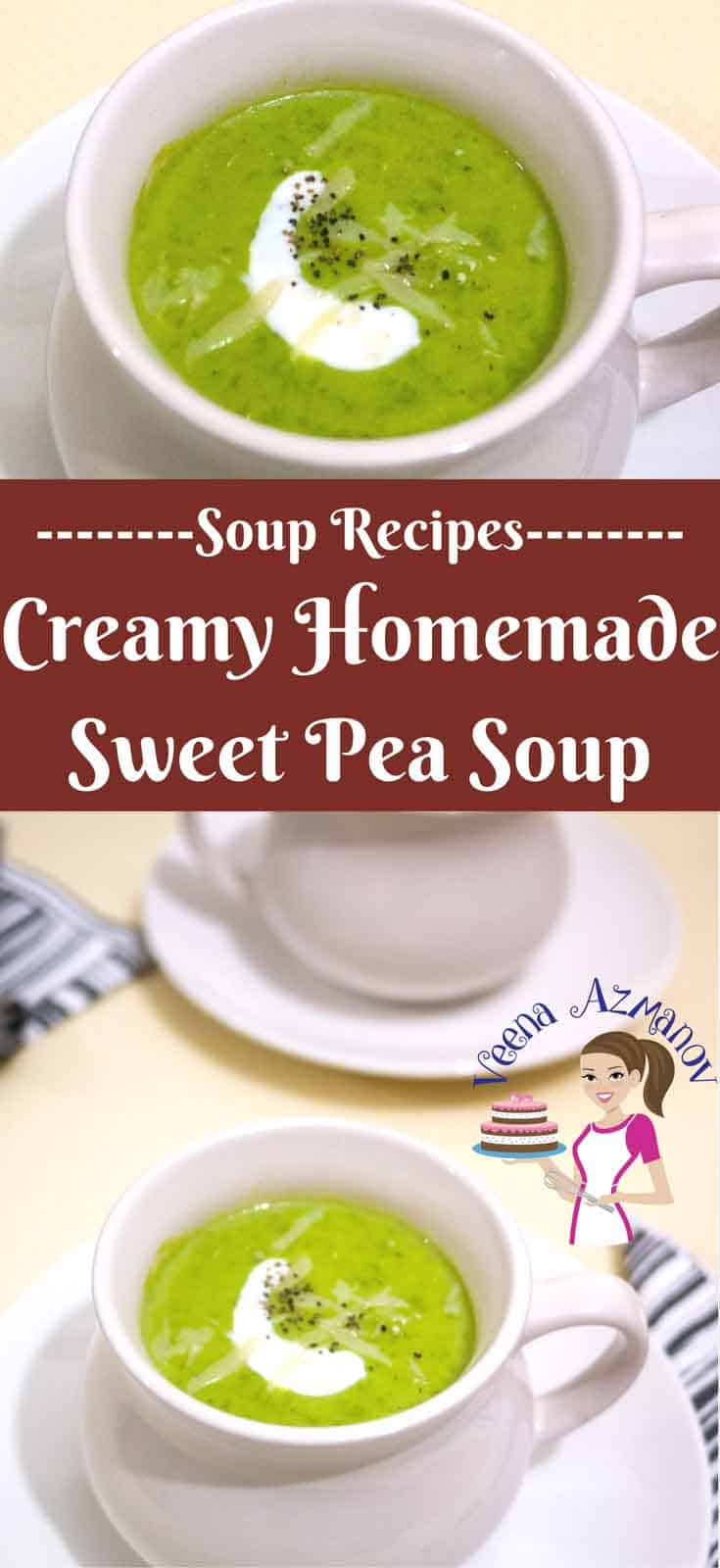 Nothing beats the warmth; the freshness and the creamy mouth feel from a simple homemade sweet pea soup on a cool rainy day in fall or winter. This is comfort food you will make more often then you planned.
