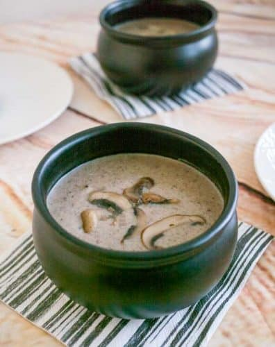 Simple, earthy, hearty, flavorful and fulfilling this homemade cream of mushroom soup is so easy to make with just a few simple ingredients you definitely have on hand.