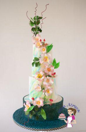 Enchanted Spring Inspired Wedding Cake