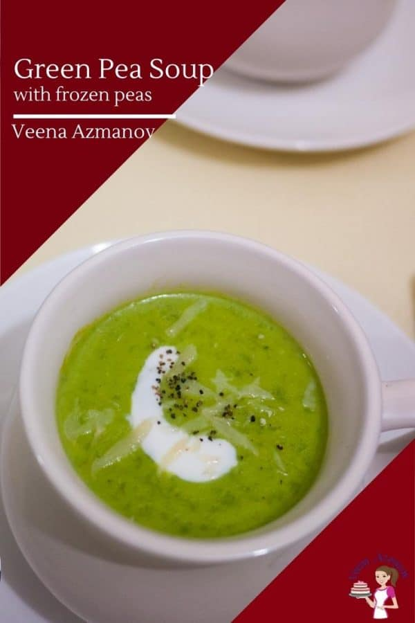 How to make homemade soup with green peas in 20 minutes