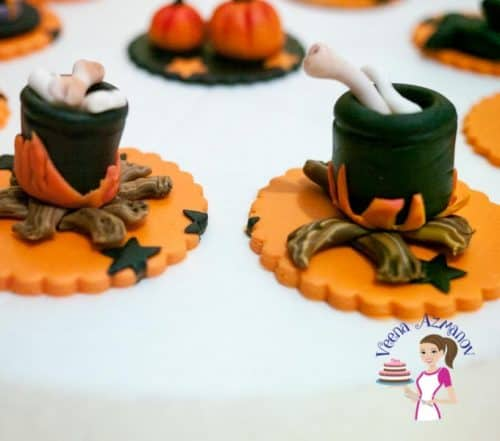 The most common; simple and easy cupcake topper that everyone loves during Halloween is a Witch's Cauldron Cupcake topper to top your favorite cupcakes