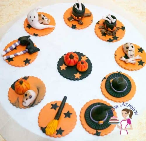 The most common; simple and easy cupcake topper that everyone loves during Halloween is a Pumpkin Cupcake topper to top your favorite cupcakes. Love the colors and the flavor too.