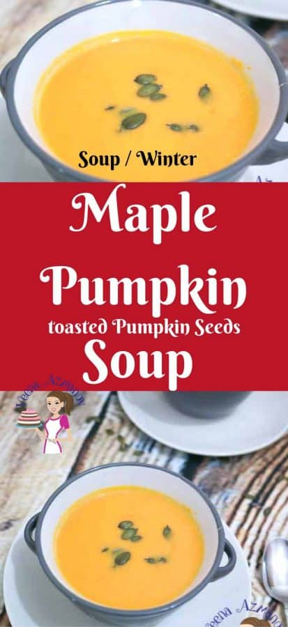 Maple and pumpkin make a perfect combination. Try adding maple to your pumpkin soup, butternut squash or even to your roasted pumpkin puree, it really enhances the flavors. This creamy soup makes a perfect meal on it's own as it's so hearty and filling. #soup #maple #pumpkin #soup #roasted #pumpkinsoup #recipe #winter #comfortfood #howto