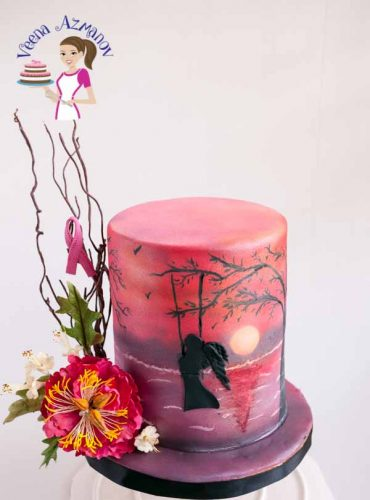 The Pink Sunset cake is my contribution to the Go Pink for Breast Cancer awareness and fund raising collaboration together with 30 other cake artist from around the world.