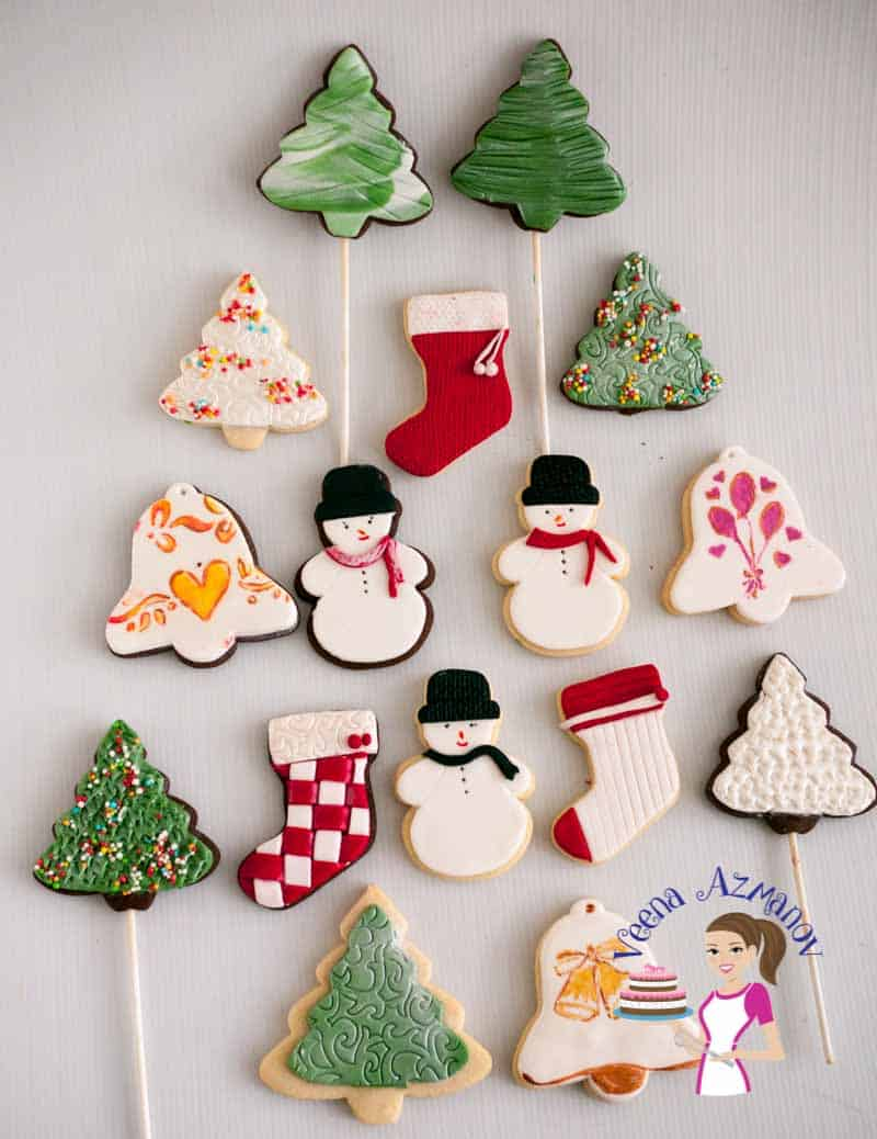 christmas cookie decorating with fondant tutorial - How To Decorate Christmas Cookies