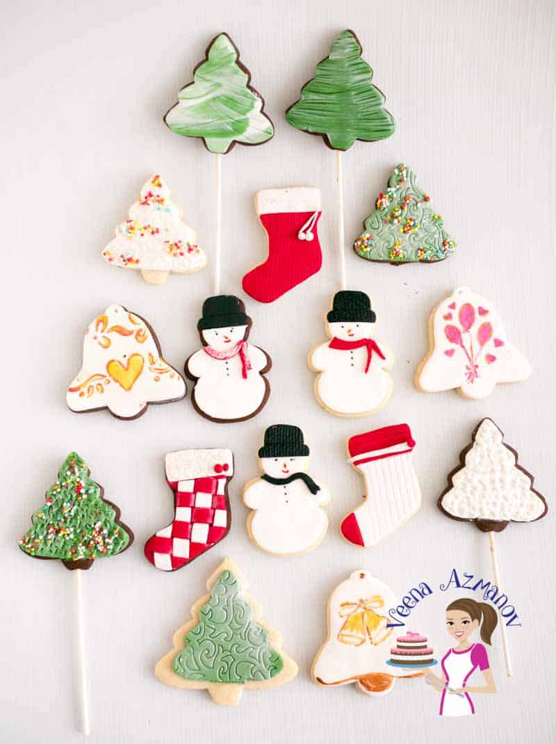 Christmas Cookie Decorating With Fondant Tutorial Video Veena Azmanov