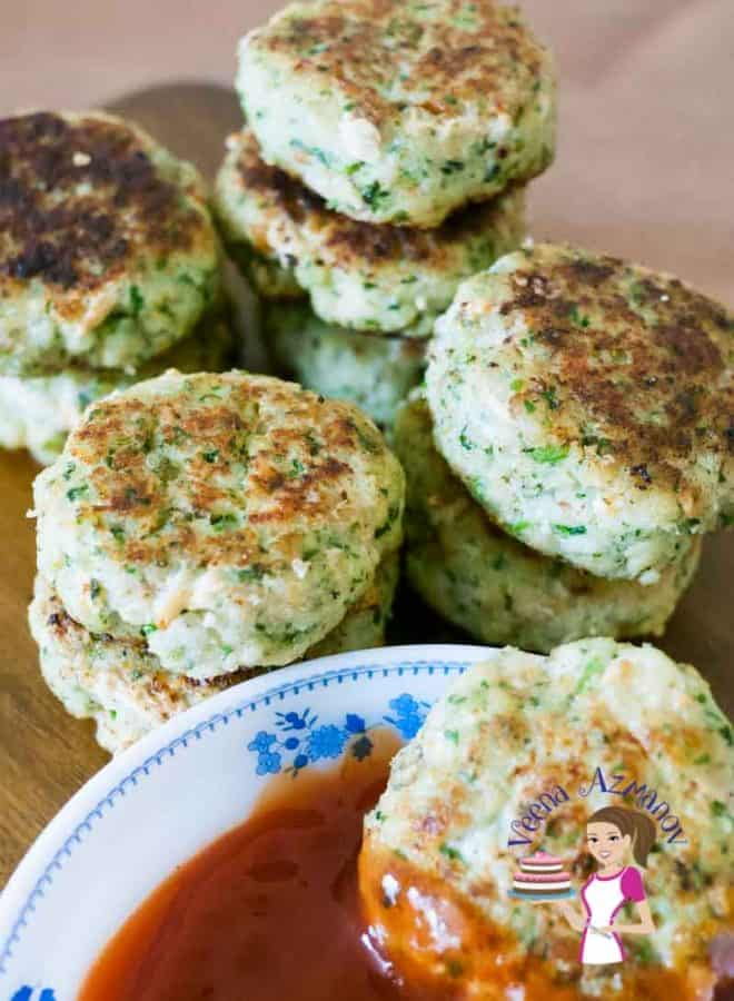 These simple quick & easy cilantro fish cakes take less than 10 minutes to prepare. The fish cakes take 6 minutes to cook and there is barely any prep time