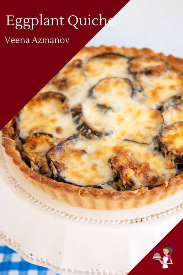 Cheesy Eggplant and Onion Quiche