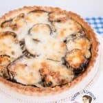Cheesy Grilled Eggplant and Onion Quiche