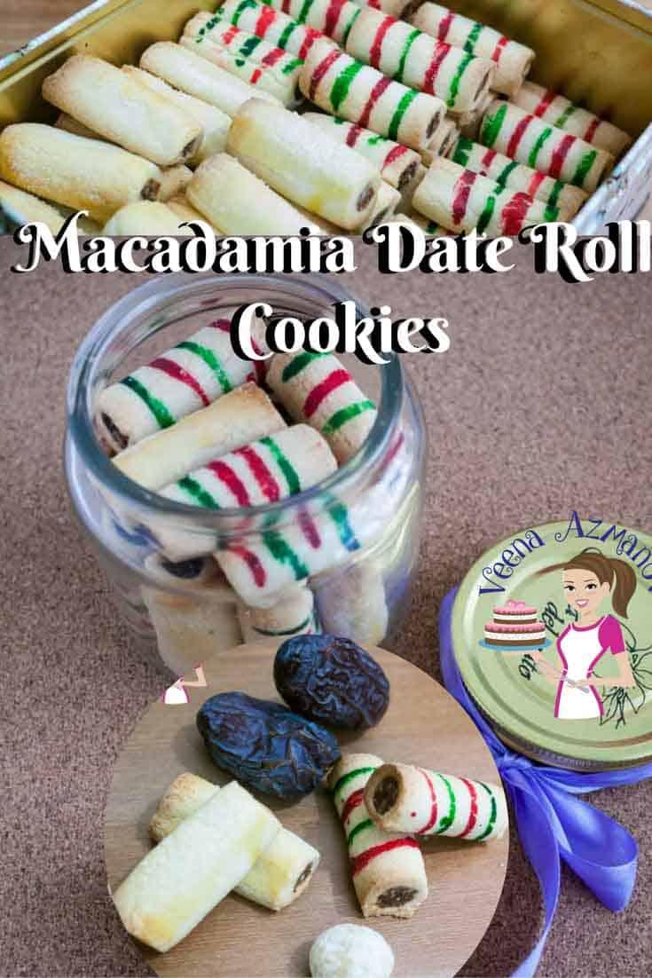 Macadamia Date Roll Cookies