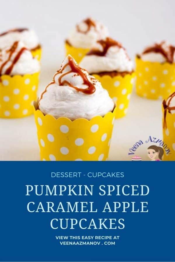 Pinterest image for caramel cupcakes.