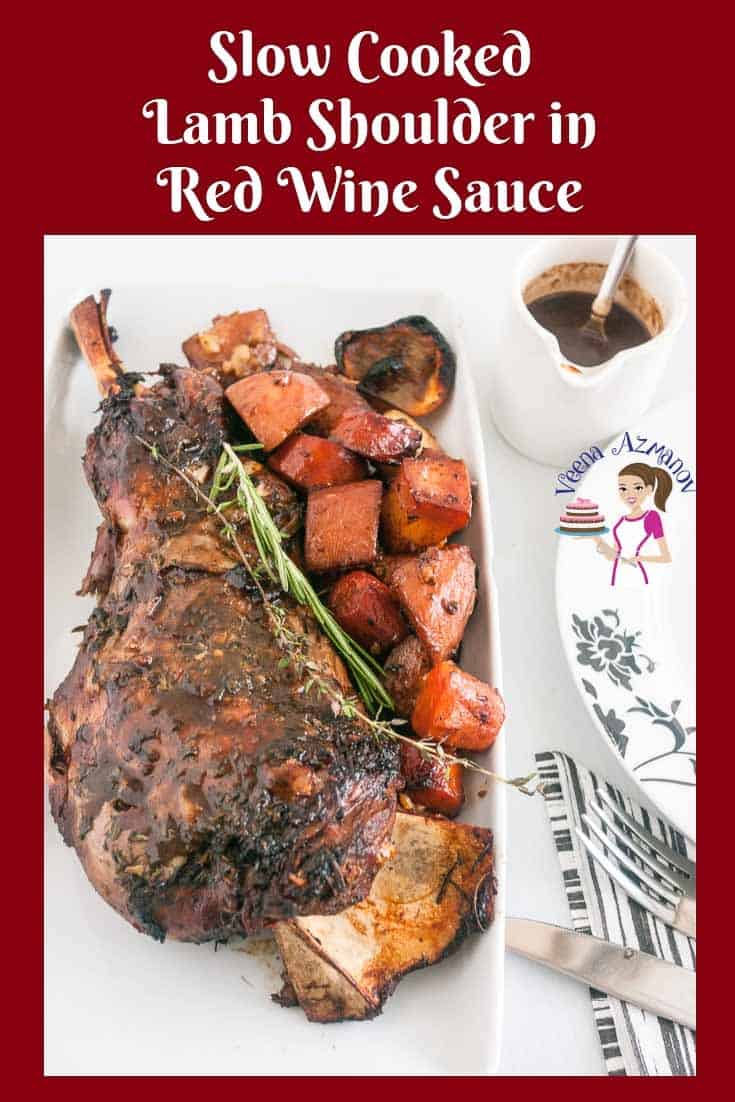 This succulent slow-cooked roast lamb shoulder is cooked low and slow keeping it soft and juicy. Infused with a mixture of fresh herbs such as rosemary, theme and cilantro and some robust red wine as a result you get a delicious gravy.